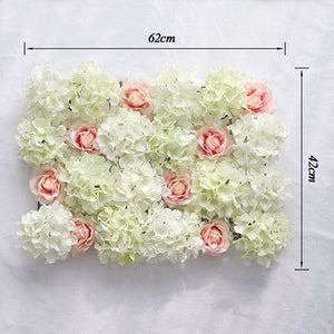 Wedding Flower Wall Panel For Party Birthday Decoration Artificial Rose Floral Wall Party Arrangement Wedding Photography Backdrop 40*60CM white flowers in usa in australia in uk