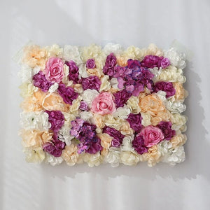 purple yellow white rose Wedding Flower Wall Panel For Party Birthday Decoration Artificial Rose Floral Wall Party Arrangement Wedding Photography Backdrop 40*60CM white flowers in usa in australia in uk
