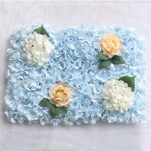 Load image into Gallery viewer, blue Wedding Flower Wall Panel For Party Birthday Decoration Artificial Rose Floral Wall Party Arrangement Wedding Photography Backdrop 40*60CM white flowers in usa in australia in uk