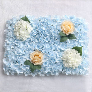 blue Wedding Flower Wall Panel For Party Birthday Decoration Artificial Rose Floral Wall Party Arrangement Wedding Photography Backdrop 40*60CM white flowers in usa in australia in uk