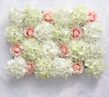 Load image into Gallery viewer, Wedding Flower Wall Panel For Party Birthday Decoration Artificial Rose Floral Wall Party Arrangement Wedding Photography Backdrop 40*60CM white flowers in usa in australia in uk