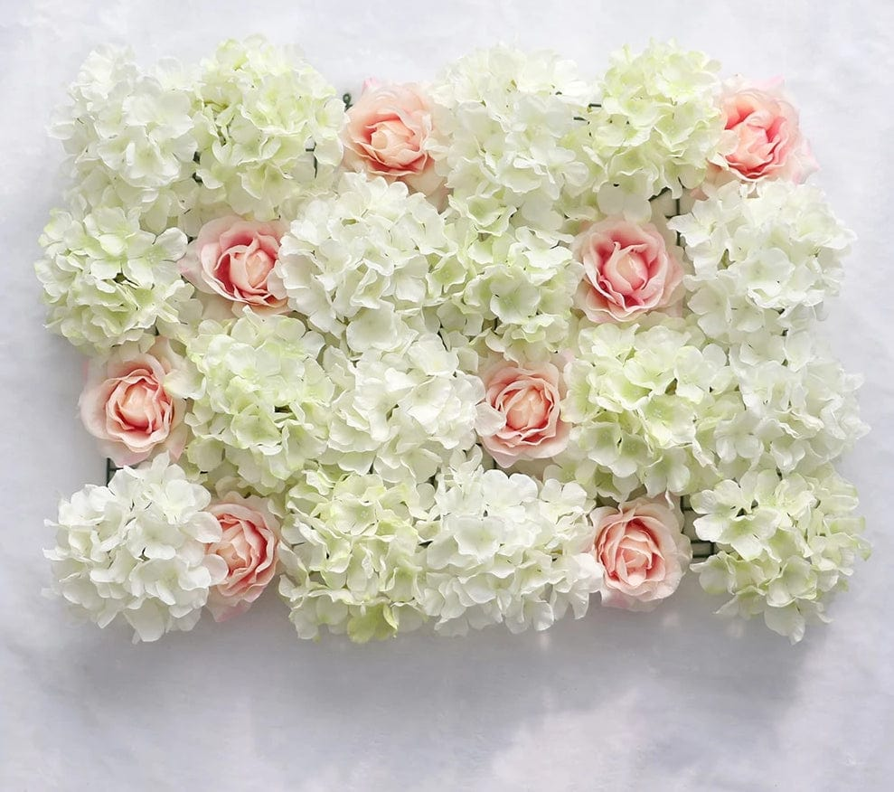 Artificial Flower Wall Rose Hydrangea Flower Background Wedding