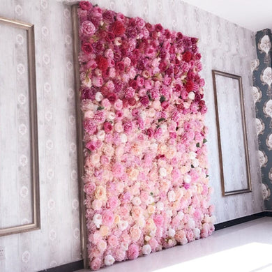 Wedding Flower Wall Panel For Party Birthday Decoration Artificial Rose Floral Wall Party Arrangement Wedding Photography Backdrop 40*60CM