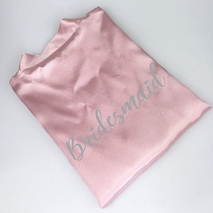 NEW  pink wedding robe personalized satin bridesmaid sister mother of the bride robes - WeddingStory
