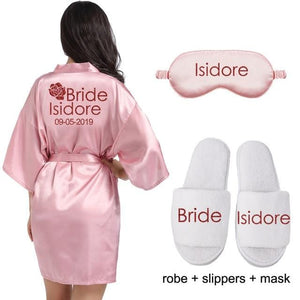 Bride Robe Personalized - Bride Robe Cotton - Mrs Robe - Mrs Gifts - Bridal Shower Gift for Bride Getting Ready Robe