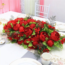 Load image into Gallery viewer, red artificial flower panel for wedding decoration diy worldwide delivery to usa canada uk australia europe