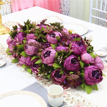 Load image into Gallery viewer, Luxury DIY wedding decor table artificial flower runner table centerpiece