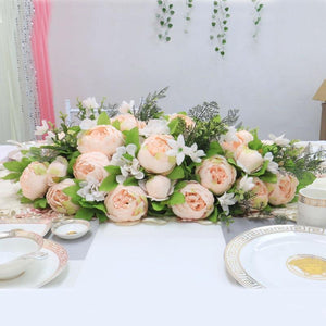Artificial Floral Silk Hydrangea Arch Runner Table Flower Row Simulation Rose for Wedding Party Road Lead Flower Decoration worldwide delivery to usa uk australia