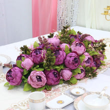 Load image into Gallery viewer, purple Artificial Floral Silk Hydrangea Arch Runner Table Flower Row Simulation Rose for Wedding Party Road Lead Flower Decoration worldwide delivery to usa uk australia