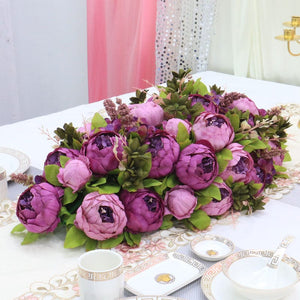 purple Artificial Floral Silk Hydrangea Arch Runner Table Flower Row Simulation Rose for Wedding Party Road Lead Flower Decoration worldwide delivery to usa uk australia