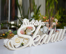 Load image into Gallery viewer, Personalized white sign Mr and Mrs