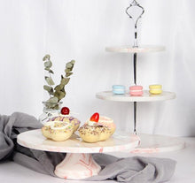 Load image into Gallery viewer, Marble cupcake/cake tray stand