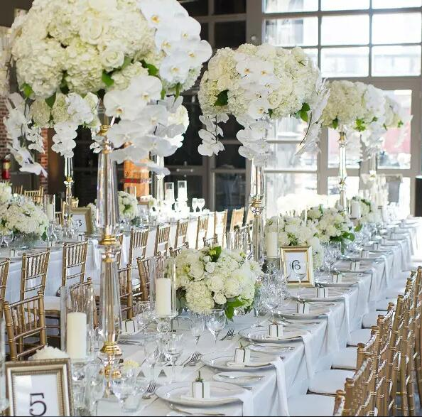 venue reception florist 10PCS Elegant acrylic crystal Beautiful Centerpieces Flower Stand for Wedding Table Decoration