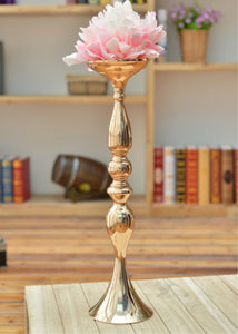 "Gold 50cm/20"" Metal Candlestick Flower Vase  Table Centerpiece  Flower Wedding Decoration - WeddingStory"