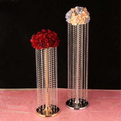 Gold and Silver Acrylic Crystal Wedding Table Centerpiece