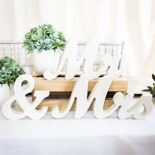 Load image into Gallery viewer, Wooden MR & MRS Wedding Sign
