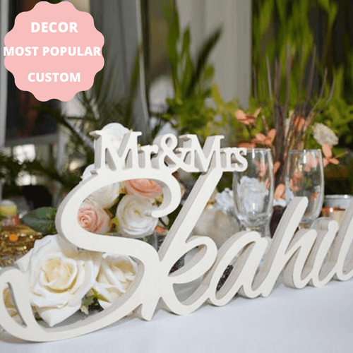 RUSTIC WEDDING TABLE PERSONALIZED CUSTOM SIGN LAST NAME BRIDE WEDDING TABLE CENTERPIECE VENUE DECOR