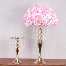 Load image into Gallery viewer, Artificial Acrylic crystal rectangular geometry centerpieces for wedding party table decorative flowers backdrop stand decorations