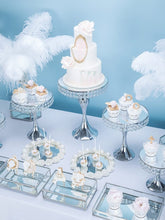 Load image into Gallery viewer, NEW Silver crystal cake stand cupcake dessert banquet table centerpiece wedding party - WeddingStory