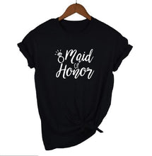 Load image into Gallery viewer, Bridal Bachelorette Party Women's T-shirts Bride Squad Maid Of Honor Casual Wedding Print