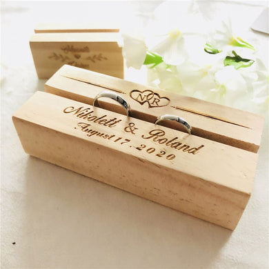 Personalized rustic Ring Box
