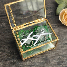 Load image into Gallery viewer, Personalized Rustic Wedding Ring  Box