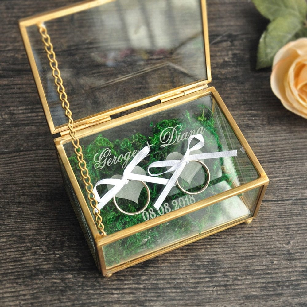 Personalized Rustic Wedding Ring  Box