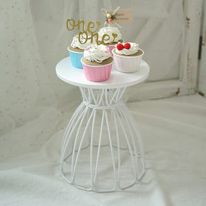 white cupcake wedding event banquet party celebration birthday baby bridal shower table decoration ideas table centerpiece cake stand