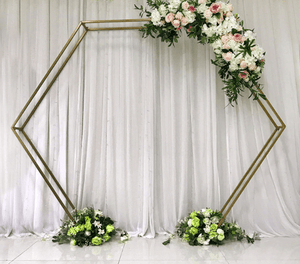 Iron gold ceremony arch