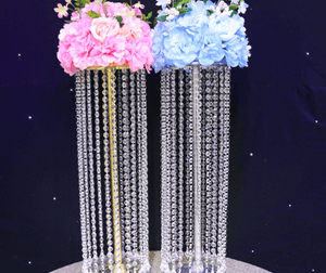 10PCS/lot acrylic crystal wedding table centerpiece decorations/flower stand