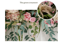 Load image into Gallery viewer, Eucalyptus Garland, Wedding Garland, Wedding Flowers, Greenery Garland, Wedding Backdrop, Red, Burgundy, Pink, Blush, Floral Garland