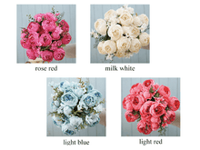 Load image into Gallery viewer, Quality Silk Peony Bouquet Silk Wedding Flowers 13 Heads Artificial Peonies Bouquet For Bridal Bridesmaids DIY Flowers Centerpieces worldwide shipping usa canada australia uk europe