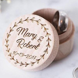 Handmade Personalized Ring Box