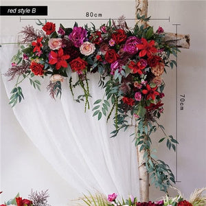 Garland, Wedding Garland, Wedding Flowers, Greenery Garland, Wedding Backdrop, Red, Burgundy, Pink, Blush, Floral Garland artificial flower set decoration diy