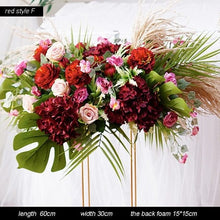 Load image into Gallery viewer, Garland, Wedding Garland, Wedding Flowers, Greenery Garland, Wedding Backdrop, Red, Burgundy, Pink, Blush, Floral Garland artificial flower set decoration diy