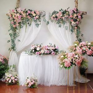 Garland, Wedding Garland, Wedding Flowers, Greenery Garland, Wedding Backdrop, Red, Burgundy, Pink, Blush, Floral Garland