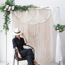 Load image into Gallery viewer, White gold square arch shelf party event wedding props arch iron stand stage backdrop frame decorative artificial flowers stand