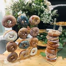 Load image into Gallery viewer, Wooden Donut Wall Stand Doughnut Holder Baby Shower Kid Birthday Party Decor Donut Party Decoration Wedding Event Party Supplies