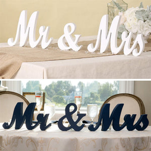 Wooden MR & MRS Wedding Sign