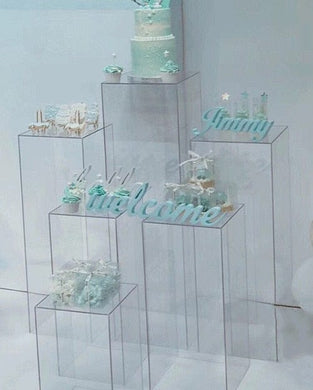 3PCS Beautiful wedding acrylic display & decoration stand for candles/flowers/pictures