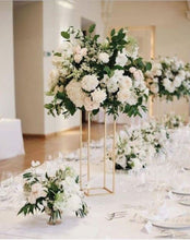 Load image into Gallery viewer, Gold  Floor Column Vases Wedding Centerpiece 10 pcs