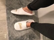 Load image into Gallery viewer, Personalized soft spa Bride slippers