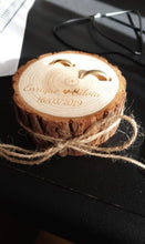 Load image into Gallery viewer, Customized HandMade Wedding  RUSTIC Ring Holder
