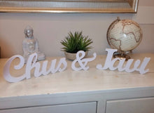 Load image into Gallery viewer, Personalized name Wooden Standing Letters Sign