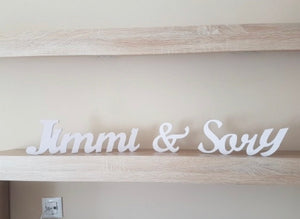 Personalized name Wooden Standing Letters Sign