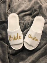 Load image into Gallery viewer, Personalized comfy hen party slippers