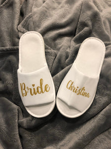 Personalized comfy hen party slippers