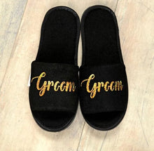 Load image into Gallery viewer, Bride and Groom cozy Slippers