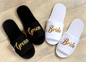 Bride and Groom cozy Slippers