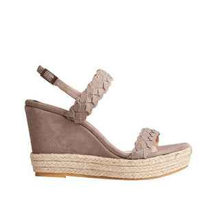 Silvia Wedge - Light Brown Suede is one of Barcemoda's most elegant ladies wedge heels.